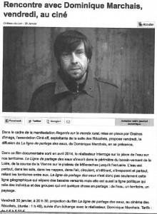 Rencontre avec le réalisateur Dominique Marchais